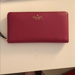 kate spade new york pebbled leather wallet
